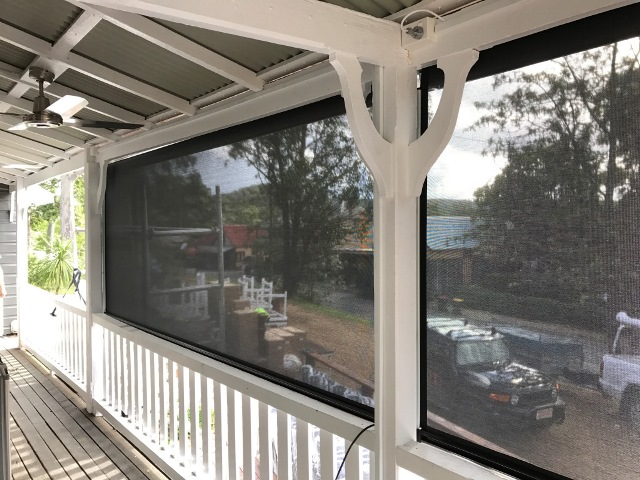 Ziptrak Outdoor Blinds installed at Myrtle House Cafe by East Coast Shade Design