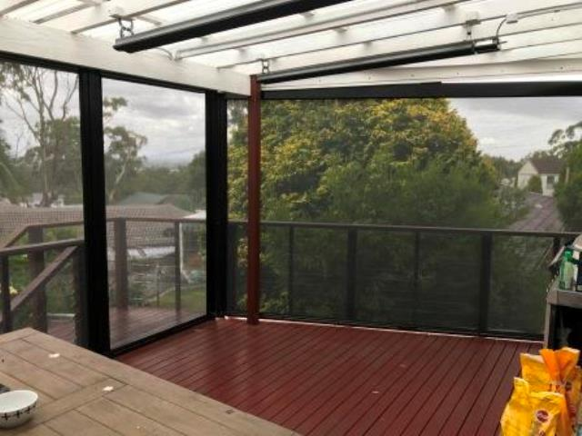 Outdoor Ziptrak Blinds installed by East Coast Shade Design at Merewether
