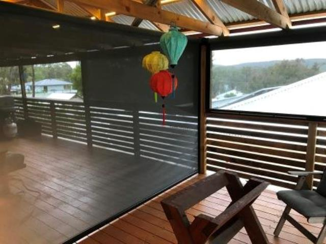 Outdoor Ziptrak Blinds installed by East Coast Shade Design at Rathmines Lake Macquarie