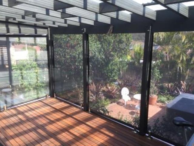 Outdoor Ziptrak Blinds installed by East Coast Shade Design at Tumbi Umbi Central Coast