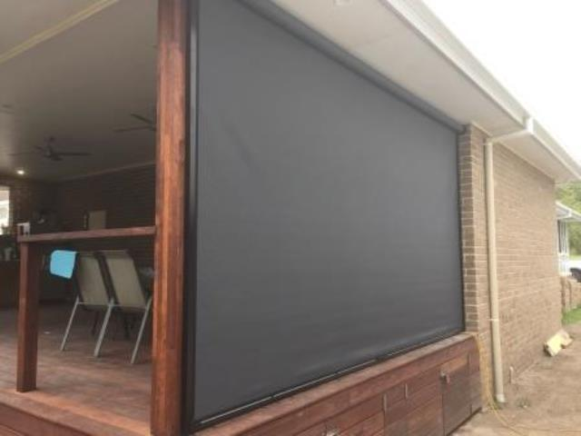 Outdoor Ziptrak Blinds installed by East Coast Shade Design at Wangi