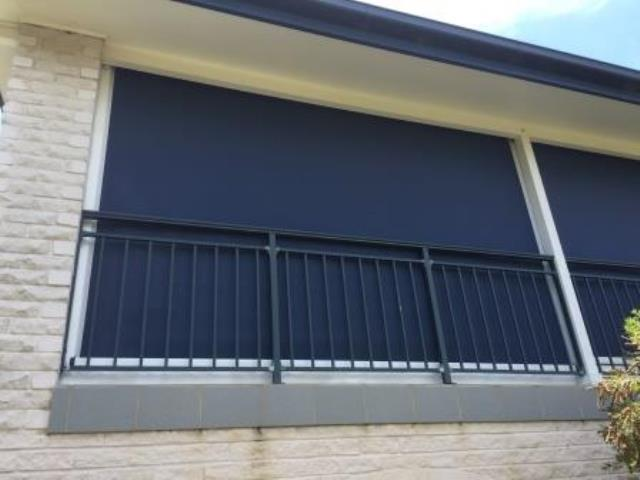 Outdoor Ziptrak Blinds installed by East Coast Shade Design at Buff Point Central Coast