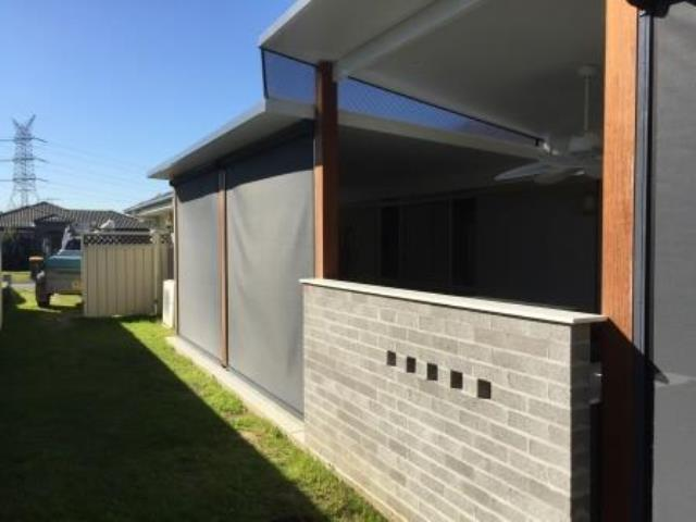 Outdoor Ziptrak Blinds installed by East Coast Shade Design at Edgeworth Newcastle