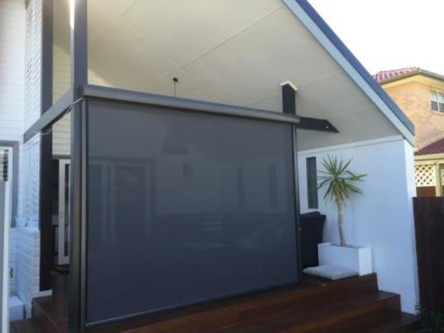 Outdoor Ziptrak Blinds installed by East Coast Shade Design at Hamilton South Newcastle