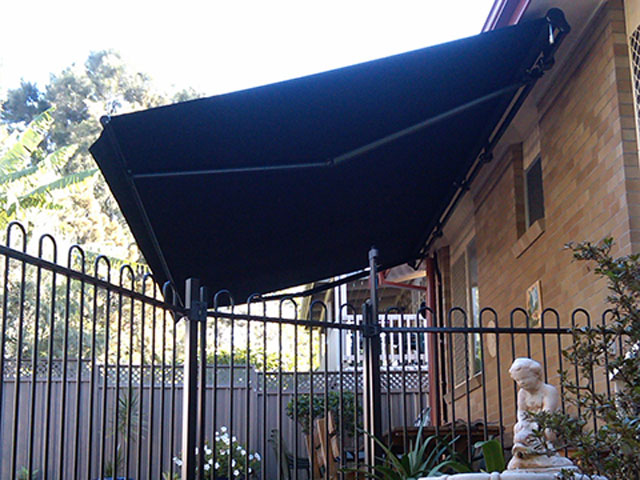 Folding Arm Awning installed at Dudley by East Coast Shade Design