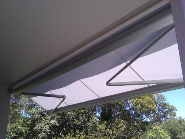 Folding Arm Awning installed at Merewether by East Coast Shade Design