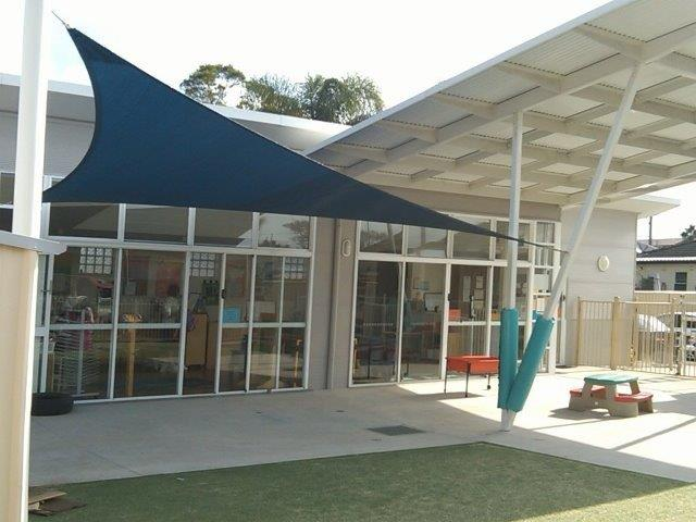 Shade Sail - Child Care Centre - Newcastle - installed by East Coast Shade Design
