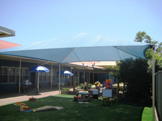 Child Care Centre Shade Structure installed by East Coast Shade Design