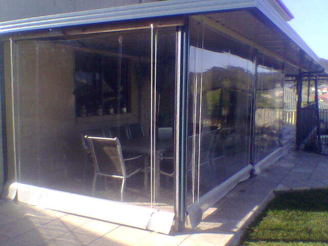 Clear PVC Outdoor Blinds installed by East Coast Shade Design