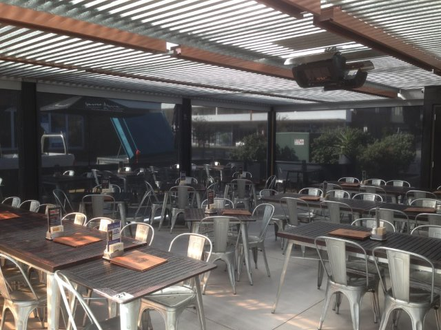 Outdoor Blinds - Alpha Series installed at the James Squire by East Coast Shade Design