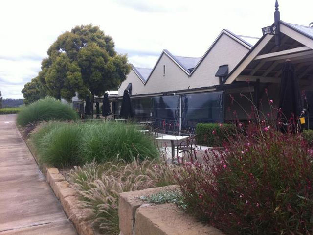 Commercial Application Outdoor Blinds at vineyard in Hunter Valley