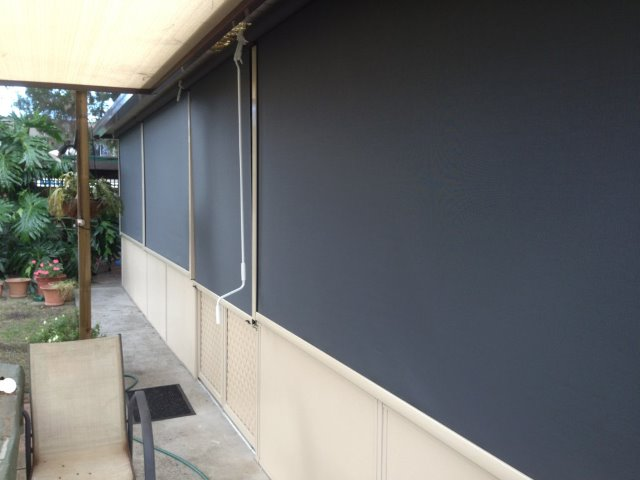 Outdoor Blind Alpha Series installed at Windsor by East Coast Shade Design