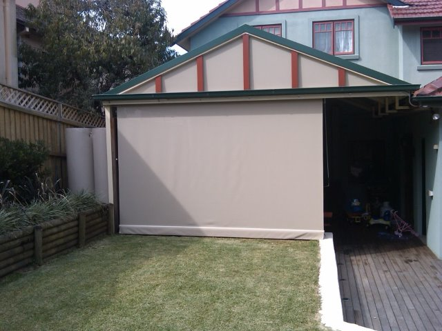 Straight Drop Outdoor Blind installed in Denistone Sydney by East Coast Shade Design