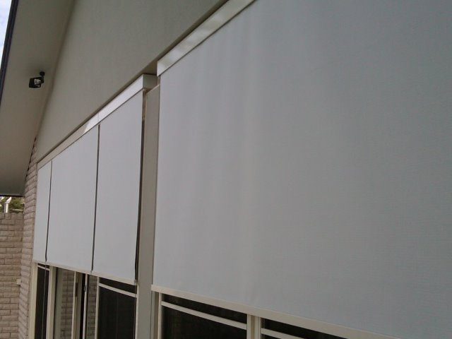 Straight Drop Blind installed at Central Coast - East Coast Shade Design