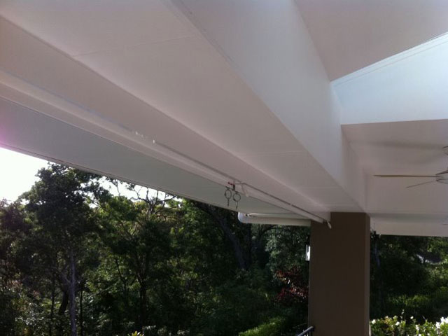 Outdoor Blind Straight Drop installed in Gordon by East Coast Shade Design
