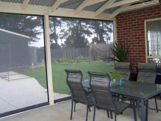 Outdoor Blinds - view in - installed by East Coast Shade Design