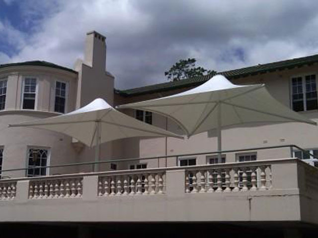 Outdoor Umbrella installed by East Coast Shade Design at Anglican Aged Care Gordon
