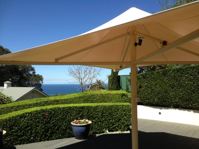 Outdoor Umbrella - custom recover at Kahibah, Newcastle - by East Coast Shade Design