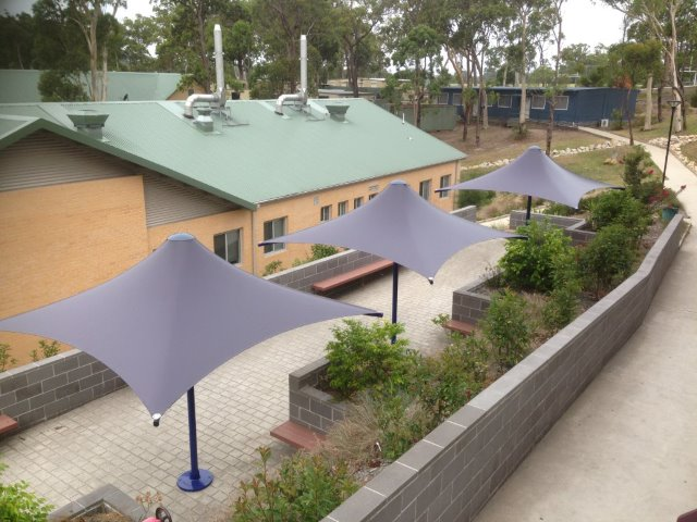 Outdoor Umbrella -- Skyspan Horizon at Charlton Christian College Fassifern by East Coast Shade Design