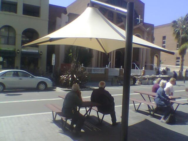 Outdoor Umbrella -- Skyspan Vista model installed in Kogarah by East Coast Shade Design