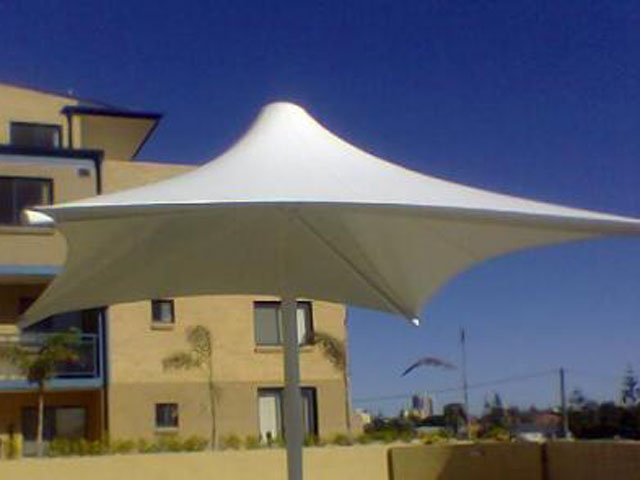Outdoor Umbrella installed by East Coast Shade Design