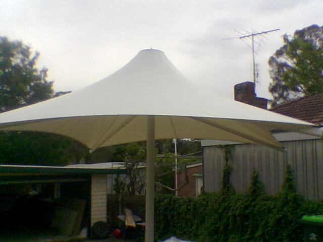 Skyspan Umbrella 3 metre retractable installed by East Coast Shade Design