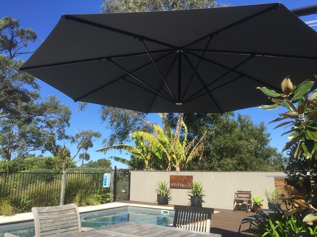 Ultrashade Umbrella installed by East Coast Shade Design Rathmines