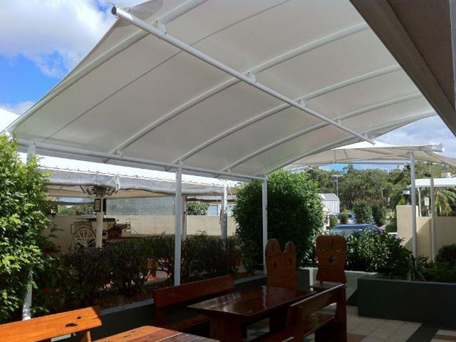 Custom Shade Structure by East Coast Shade Design at Bonnels Bay