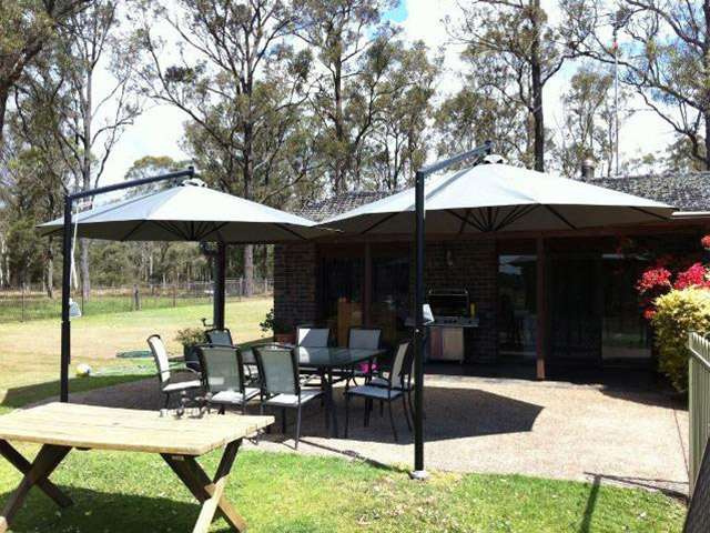 Ultrashade Umbrella installed by East Coast Shade Design Cessnock