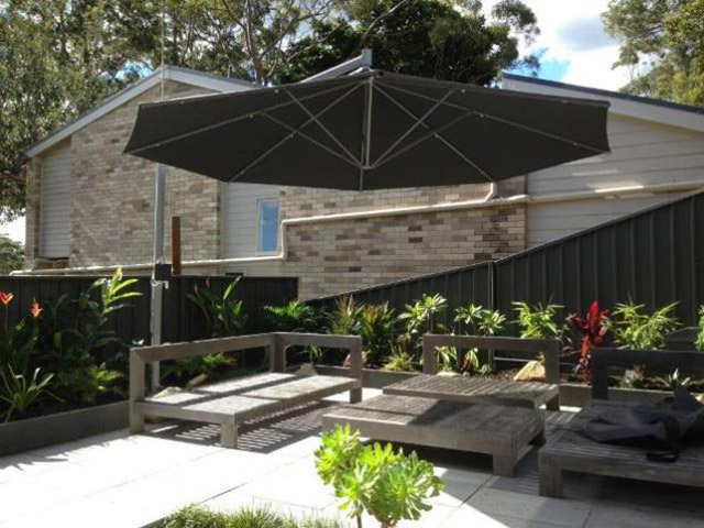 Ultrashade Umbrella installed by East Coast Shade Design Avoca