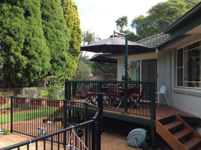 Ultrashade Umbrella installed by East Coast Shade Design Beecroft