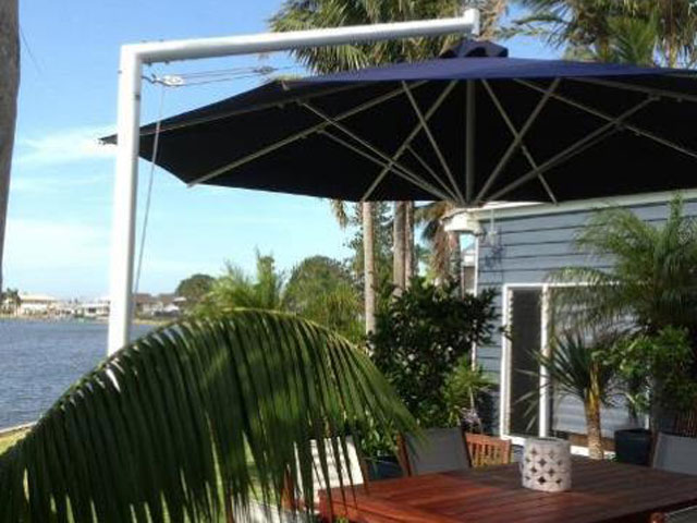 Ultrashade Umbrella installed by East Coast Shade Design Marks Point