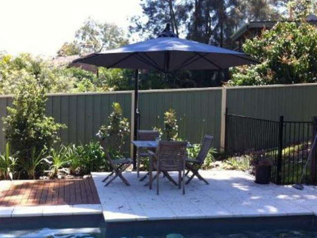 Ultrashade Umbrella installed by East Coast Shade Design Rathmines Lake Macquarie