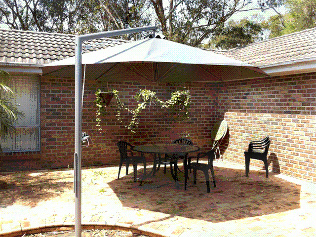 Ultrashade Umbrella installed by East Coast Shade Design Hawks Nest