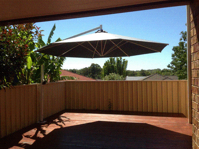 Ultrashade Umbrella installed by East Coast Shade Design Kahibah Newcastle