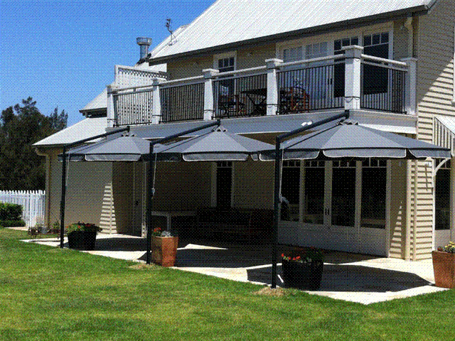 Ultrashade Umbrella installed by East Coast Shade Design Keith Tulloch Wines