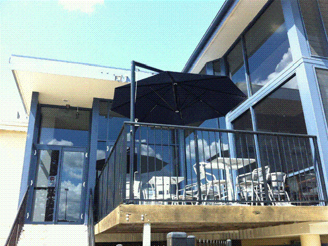 Ultrashade Umbrella installed by East Coast Shade Design West Wallsend RSL